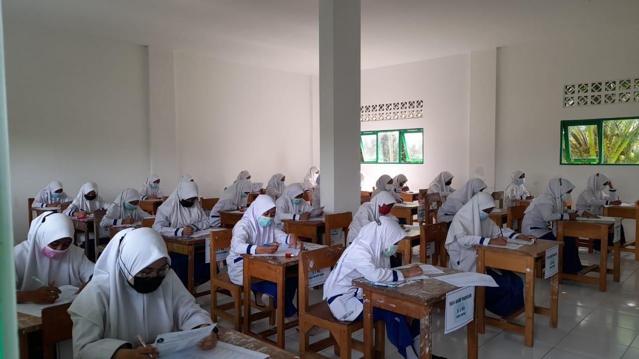 MTs Darul Istiqamah Selenggarakan Ujian Madrasah Kelas Akhir Tahun Pelajaran 2020/2021