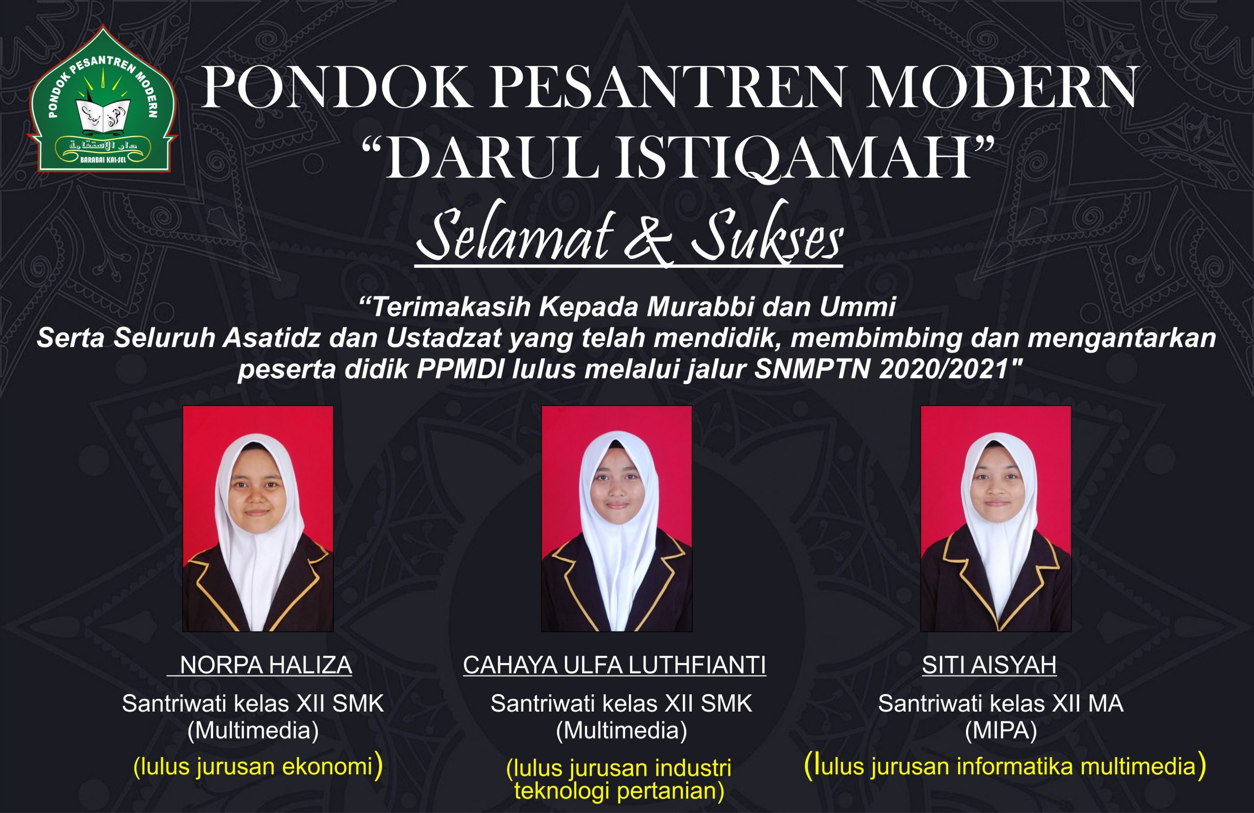 Tiga Peserta Didik PPMDI Berhasil Lulus SNMPTN 2021